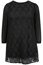 New Ladies Lace Lined Sheer Mesh Evening Dress 14-28