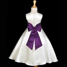 CUTE FLOWER GIRL DRESS TEA-LENGTH BIRTHDAY RECITAL WEDDING PLAY DRESS MANY SIZES