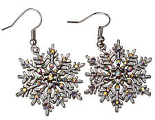 Snowflake dangle earrings thanksgiving Xmas holiday jewelry gifts ED22