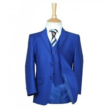 Royal Blue Boys Suit Italian Cut Pageboy Wedding Suits Blue Prom Communion Suit