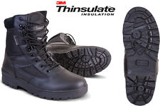 Combat Patrol Boot Military Army Half Leather Tactical Black Cadet All Sizes New