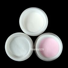 1 PCS Clear Pink White Polymer Nail Art Acrylic Powder 3 Colors Polymer Powder