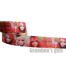 "1""25mm Pink Girl Printed grosgrain ribbon 5/50/100 yards hairbow Wholesale"