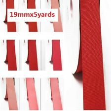 "by 5 Yards Grosgrain Ribbon 3/4"" /19mm. for Wedding Rose to Red s color"