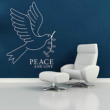 WHITE DOVE BIRD OF PEACE AND LOVE vinyl wall art sticker decal