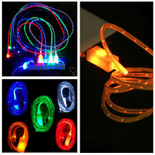 New Light Up LED USB Data Sync Charger Cable For Android Samsung iPhone 5 5S 6