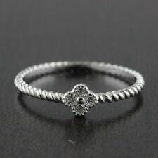 Womens Solid 925 Sterling Silver CZ Micro Pave Setting Toe Knuckle Small Ring