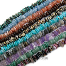 "4x8mm-10x13mm Natural GemStone Nugget Freeform Spacer Loose Beads 15.5"" Strand"