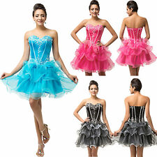 Short Mini Ball Cocktail Evening Prom Party Pageant Masquerade Quinceanera Dress