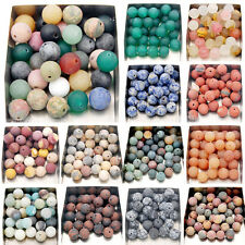 4mm 6mm 8mm 10mm 12mm Matte Frosted Natural Gemstone Round Spacer Loose Beads