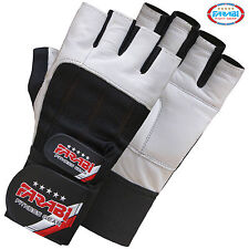 Farabi Weight Lifting Gym Training Fitness Gloves Leather Wrist Support Excercis