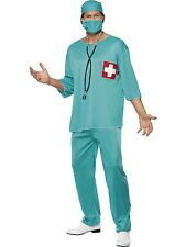 Adult Surgeon Costume Scrubs Doctor Hospital Uniform Mens Quality Fancy Dress