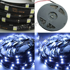 1X 12V 24V DC 5M 5050 SMD Cold White 150 LED Strip Light Waterproof Home Light