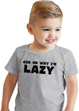 Toddler Ask Me Why Im Lazy Funny Sloth Flip Up T shirt for Kids