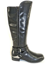 """Fergalicious By Fergie Athena Black Synthetic 1"""" Heel Knee High Tall Boots"""