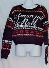 Urban Outfitters Coincidence & Chance Noel Fair Isle Cropped Ugly X-Mas Sweater