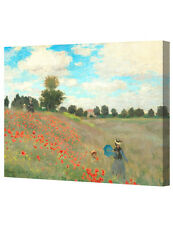 Poppies at Argenteuil 1873 by Monet. Giclee Print, Stretched Canvas