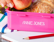 Clear Large Vinyl Personalised Custom Name Labels For Lunchbox
