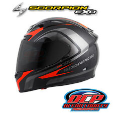 BRAND NEW SCORPION EXO-R710 FOCUS BLACK / RED   FULL FACE MOTORCYCLE HELMET