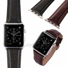 New Genuine Leather Watch Strap Band Wristband for Apple Watch iWatch 38mm 42mm