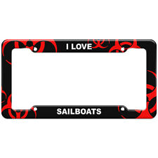 Red Biohazard Zombie License Plate Frame I Love Places Things S