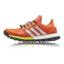Adidas Adistar Raven Boost Womens Orange Trail Running Sports Shoes Trainers