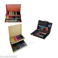 Children, Kids Art, Stationary Set in Wooden Case (painting, paints, colouring)