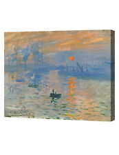 Impression Sunrise by Monet Classic Arts Reproduction Giclee Stretched Canvas