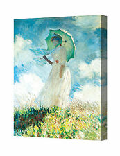 Woman with a Parasol 1886 by Monet Giclee Print Stretched Canvas Wrapped