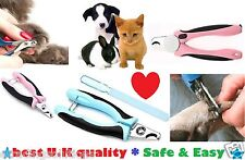 UK Pet Dog Cat Nail Toe Claw Clippers Stainless Steel Scissors Trimmer Cutter