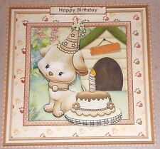 Handmade Greeting Card 3D Birthday With A Dog And A Cake