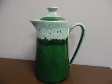 Vintage Green Drip Coffee Pot Tea Pitcher Carafe with Lid