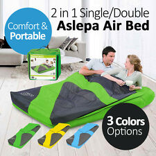 Bestway 2 in 1 Single 1.85x76x22CM Double 1.91x1.37x22CM Aslepa Air Bed Sleeping