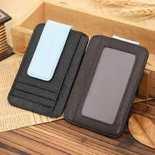 Mens  Money Clip Fashion Casual Business Leather Wallet Credit Card ID Holder