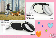 5M/16FT STRONG PREMIUM RETRACTABLE DOG LEAD WALKING LEASH EXTENDABLE *nw