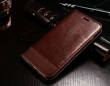 Vintage Magnetic Flip Cover Skin Stand Wallet Leather Case For iPhone Samsung