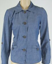 Charter Club Blue Chambray Unlined Jacket Sizes XS and L New 8592