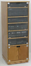 Stereo Rack Cabinet with Glass/Wood Doors Oak/Maple Plywood USA made SHIPS FREE