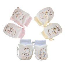 Kid Cute Baby Cotton Infant Anti Scratch Mittens Unisex Soft Newborn Rope Gloves