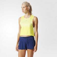 Adidas Adizero Womens Yellow Climacool Singlet Running Sports Vest Tank Top