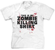 Youth This Is My Zombie Killing Shirt Zombies T Shirt Funny Undead Tee