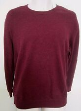 BANANA REPUBLIC Men Burgundy Ribbed Detail Crew Neck Sweater Size L,XL NWT