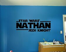 Star Wars Jedi Knight Personalized Custom Name Quote Vinyl Wall Decal Sticker