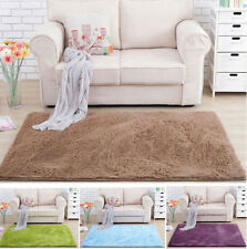 Anti-skid Shaggy Area Rug Dining room Carpet Comfy Bedroom Floor Mat Home New