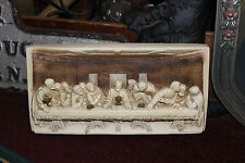 Vintage Jesus Christ Last Supper 3D Plaster Cement Wall Plaque Christianity-LQQK