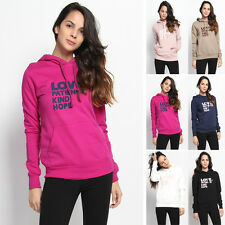 TheMogan Love Graphic Hooded Sweatshirts Long Sleeve Pullover Hoodie Top