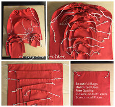 Red Cotton Bags Sizes 3x5  ,4x6 ,5x7 ,6x10 ,8x10 ,10x12 ,12x16,18x20  *By Dozen*
