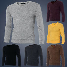 Cool Stylish Men Casual Slim Fit V-neck Knitted Pullover Jumper Sweater Tops