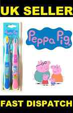 PEPPA PIG TWIN PACK TOOTHBRUSH BRUSHES FOR CHILDREN KIDS