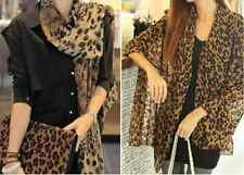 New fashion long soft Vintage Scarves Wrap Chiffon Leopard Scarf Shawl for women
